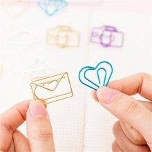 DiyArts 10 шт./лот креативные милые зажимы для бумаги конверт кактус металлический зажим для бумаги Закладка декоративный файл памятки зажимы канцелярские