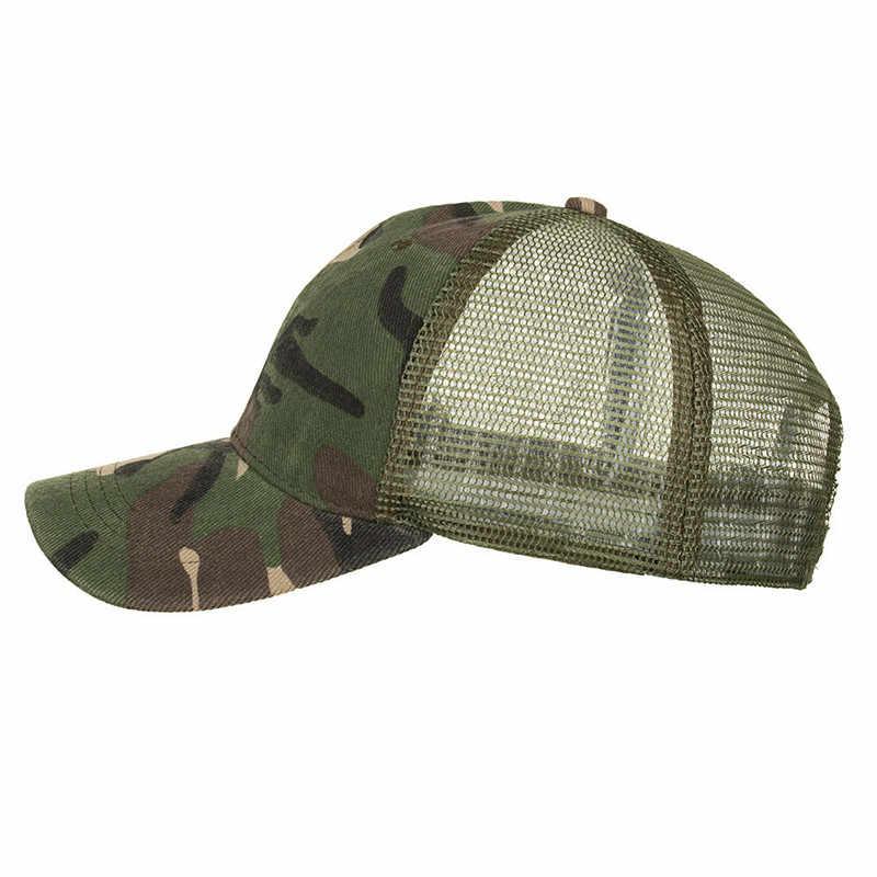 Été Camouflage maille baseball chapeaux pour hommes femmes chapeaux décontractés parasol en plein air chapeau de soleil Hip Hop Baseball casquettes parasol