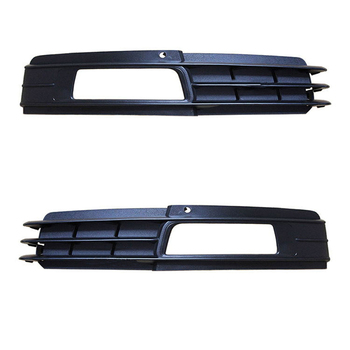 2pcs Auto Front Left Right Bumper Fog Light Lamp Grill for AUDI A6 C6 2009 2010 2011 4F0807681P 4F0807682P black auto front bumper driving fog lights cover lamp frame trim for audi a6 c6 2009 2011
