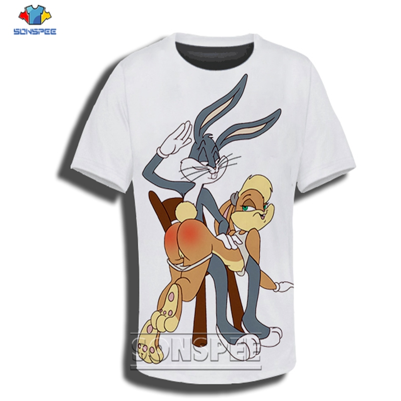 Anime 3d Print T Shirt Streetwear Cartoon Bugs Bunny Funny Men Women Fashion T-shirt Kids Harajuku Kids Shirts Homme Tshirt A94