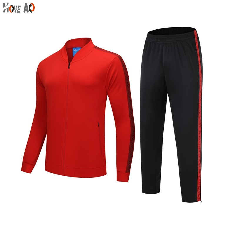 HOWE AO 2019 Sport Suit Winter Men Soccer Running  Jackets Long Sleeve Tracksuit Men Soccer Jersey Training Suit Football Suits
