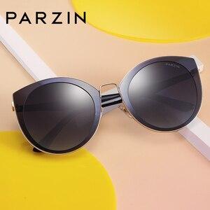 Image 1 - Parzin高級偏光サングラスの女性軽量TR90 フレームコーティングミラーレンズ夏の女性のサングラスブランドのデザイナー