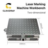 Cloudray 1064nm 섬유 레이저 마킹 조각 기계 2 축 이동 테이블 휴대용 캐비닛 케이스 xy 테이블