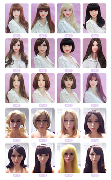 dolls Wig For Sex Dolls Different Style Color Hair For Love Dolls TPE Sex Dolls Real Silicone Sex Dolls Fit For 145cm to 176cm Body