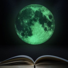 30cm Luminous Moon 3D Wall Sticker for kids room living room bedroom decoration home