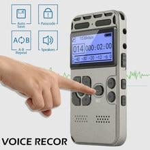 Dyktafon cyfrowy nagrywanie dźwięku dyktafon MP3 wyświetlacz LED aktywowana głosem obsługa redukcji szumów 64G