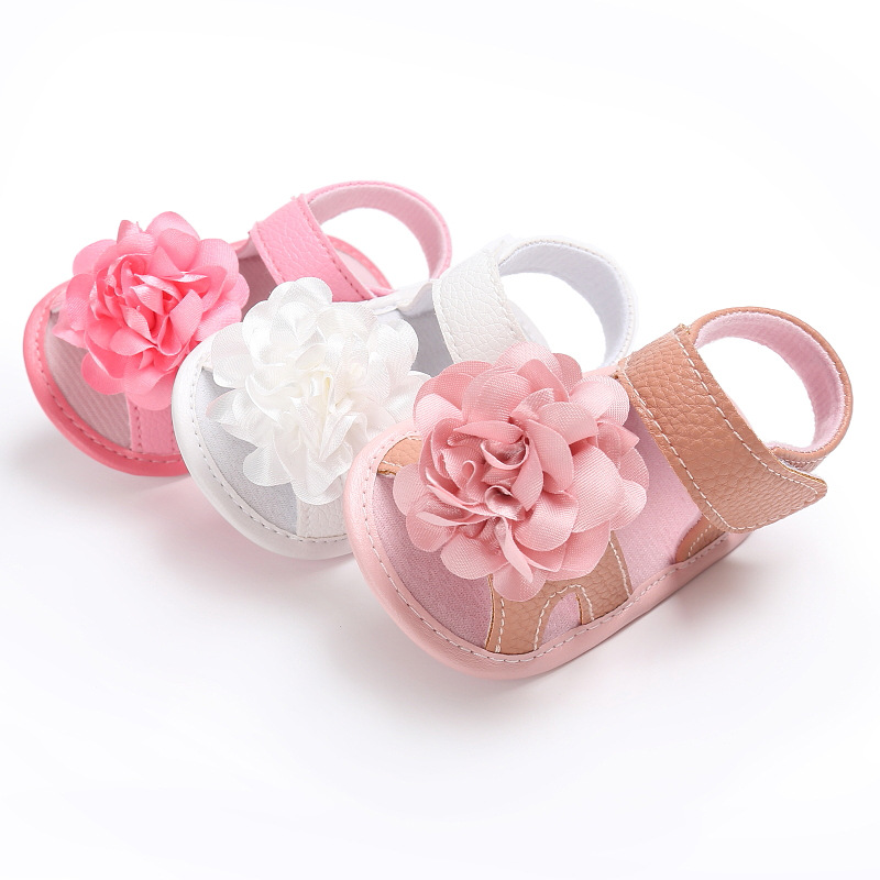 Newborn Infant Girl Sandals Baby Shoes Buckle Strap Embroider Cotton Soft Anti-Slip Light Cute Toddler Crib Shoes Summer Sandals