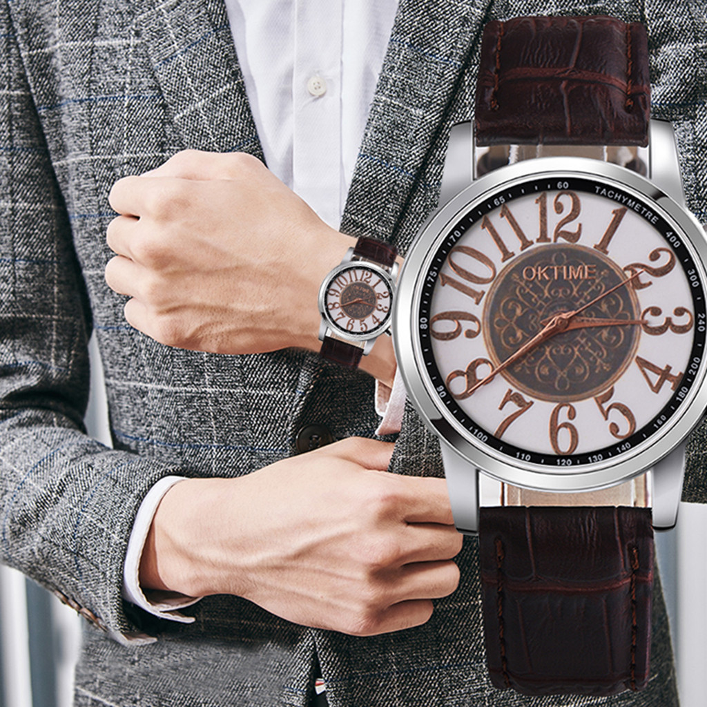 DUOBLA Men Watches Waterproof Quartz Watch Brand Men Watch Men's Wristwatches Luxury Leather Band Black Wrist Reloj Hombre 8z