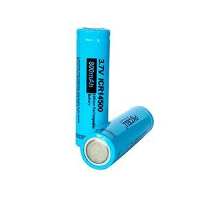 Image 4 - Pkcell ICR14500 14500 800mah 3.7充電式リチウムイオン電池ledランペ · batterieフラットトップ