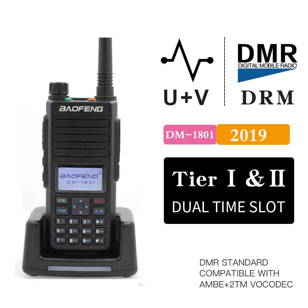 Baofeng DM-1801 Digitale Walkie Talkie DMR Tier II Dual zeit slot Tier2 Tier1 DMR Digital / Analog DM-860 Ham Protable radio