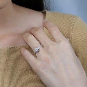 Image 5 - Женское кольцо из белого золота 750 пробы, 18 К, 6,5 мм