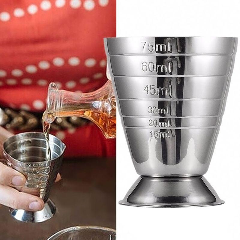 Measuring Shot Cup Ounce Jigger Bar Cocktail Drink Mixer Liquor Measuring Cup Mojito Measurer Milk Coffee Mug Stainless