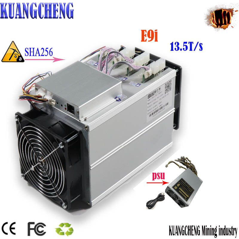 Old 80-90% Bitcoin SHA256 ASIC Btc BCH miner Ebit E9i 13.5T with PSU is better than Antminer S9 S9j T9 + S11 Z9 z11 M3 12t 11.5T 1