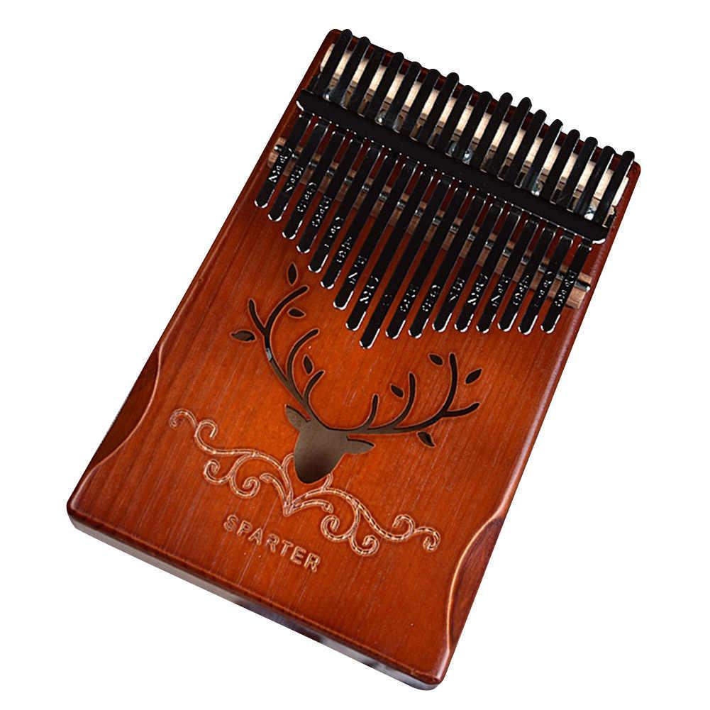 Kciuk fortepian 17-dźwięk Kalimba pełna instrukcja obsługi fornir palec palec dla początkujących Instrument muzyczny prezent instrumentu