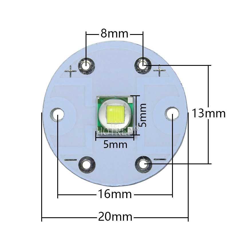 10W קריס XM-L2 T6 XML2 U2 LED אור דיודה SMD5050 10W עגול 20mm PCB לפנס רכב אור פנס גבוהה כוח הנורה חרוז DIY