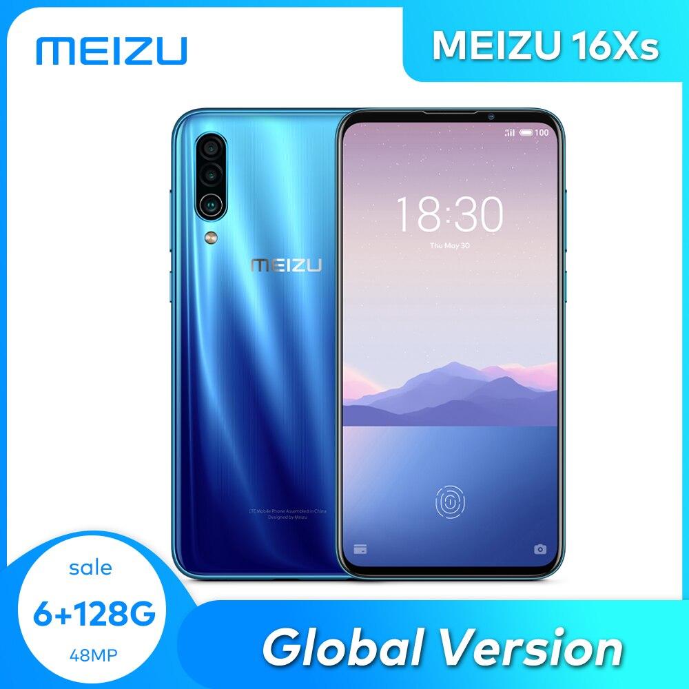 Meizu 16xs глобальная версия 6 ГБ/64 Гб 128 Гб Смартфон Snapdragon 675 Octa Core 48MP тройной Камера Android телефона для быстрой зарядки