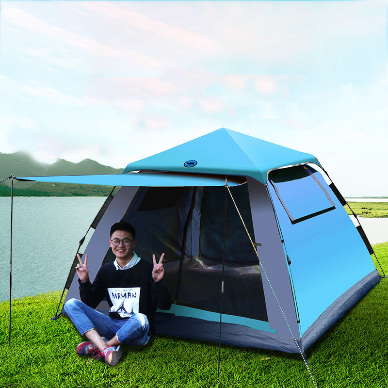 4 People Tourist 4 Seasons Family Travel Beach Camp Tent Easy Open Garden Sun Tent  Naturehiking Tent Tents For Families