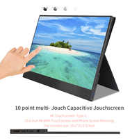 4K Touch Screen Portable Monitor,15.6 inch 3840 x2160 ultra slim IPS LCD display with HDMI Type C for Computer Laptop PS4 Switch