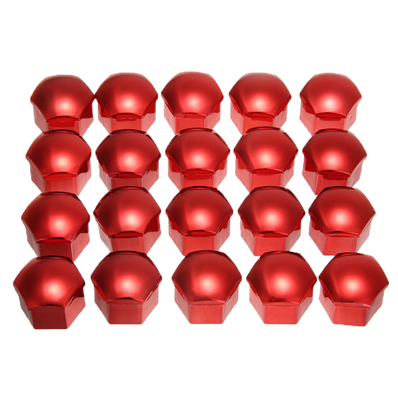 Hot Sales 20pcs 17/19/21mm Blue Red <font><b>Car</b></font> <font><b>Wheel</b></font> <font><b>Nut</b></font> <font><b>Caps</b></font> Dust Proof Rims <font><b>Wheel</b></font> <font><b>Nut</b></font> Bolt Cover +Removal Tool image