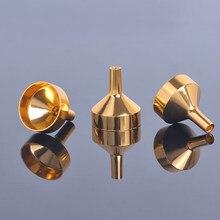 Mini entonnoirs métalliques pour remplissage de petits flacons, transfert de liquide, recharge de parfum, huile essentielle, 10 pièces