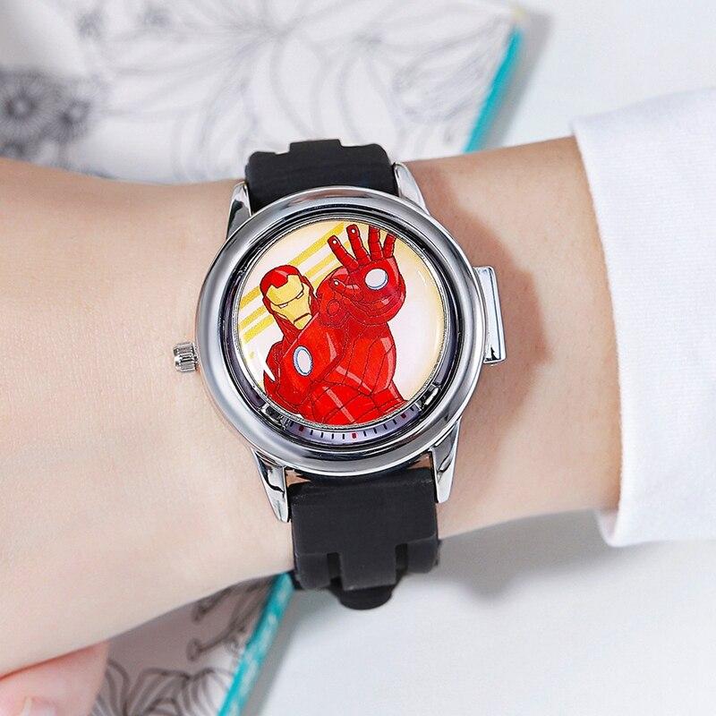 2020 новинка паук мужчины часы дети кварц часы для детей поворот крышка круто супер герой чудо часы мягкий ремешок подросток мальчик часы