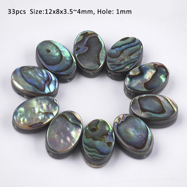 with Silver Alloy Settings and Necklace Abalone Pendant and Fishhook Earrings Item 216