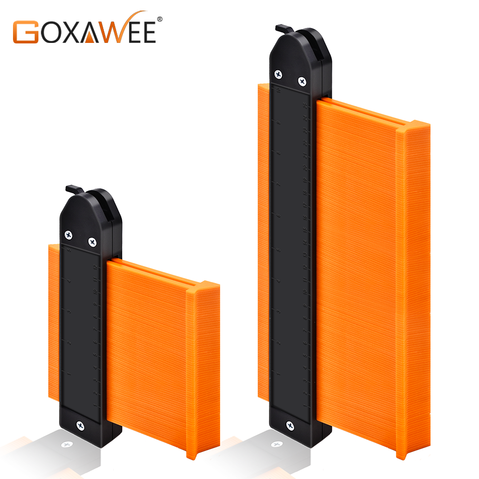GOXAWEE 5/10 Inch Contour Gauge Plastic Profile Copy Measuring Contour Gauge Tiling Laminate Tiles Edge Shaping Measure Ruler