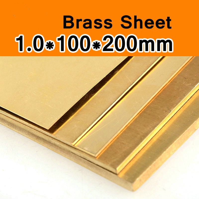 1 * 100 * 200mm Brass Sheet Plate Of CuZn40 2.036 CW509N C28000 C3712 H62 Customized Size Laser Cut CNC Mould DIY Frame Metal