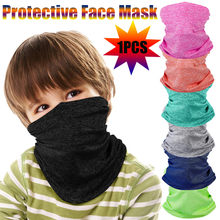 Children Solid Scarf Bandana Sunscreen Uv Protection Mask Neck Guard Cycling Windproof Warmer Scarf Reusable Headband Unisex new(China)