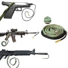 Pistolet myśliwski lufa Bore Cleaner wąż Rope.22 Cal.223 Cal.38 Cal i 5.56mm,7.62mm,12GA pistolet karabin kaliber Sooting narzędzia do czyszczenia