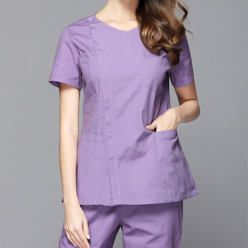 Medical Costumes Nurse Uniform V-neck Clinical Uniforms Woman Lab Surgical Suit Medical Uniforms