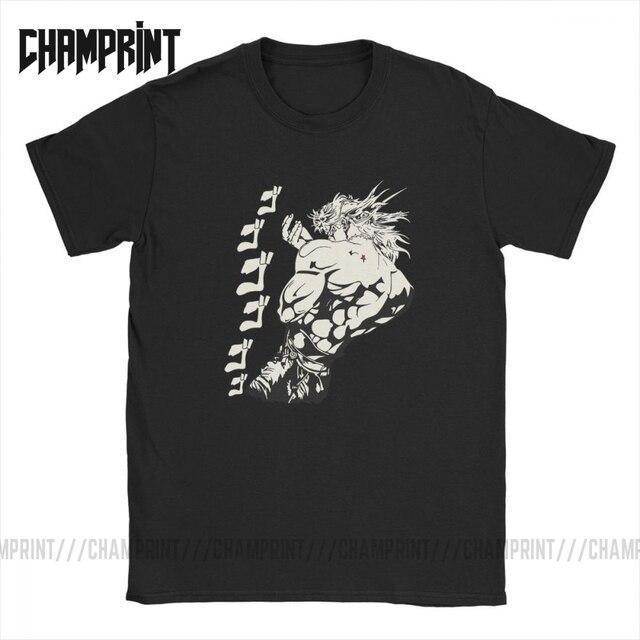 Dio Brando Jojos Bizarre Adventure T-Shirts Men Pure Cotton T Shirt Joestar Anime Kujo Blood Otaku Crusaders Short Sleeve Tees
