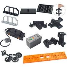 Piezas técnicas de tren, juego de bloques de construcción de Motor de valla, herramientas multifunción, tren, 91994, 74784 PF