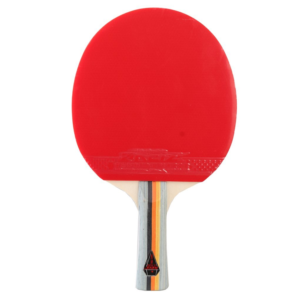 REIZ 1 Star Table Tennis Racket Ping Pong Paddle Short Or Long Handle Training Table Tennis Racket With Case