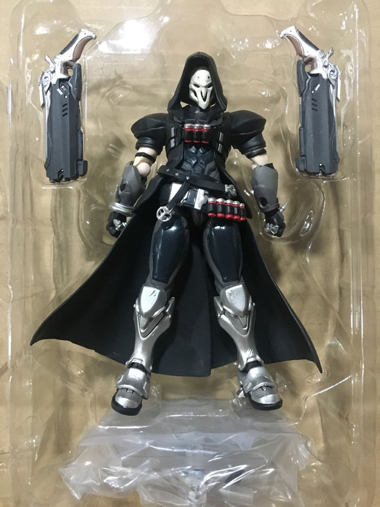 In Stock 15cm Overwatcher 393 # Grim Reaper 352 Tracer PVC Action Figure Movable collection toy gifts Doll 2