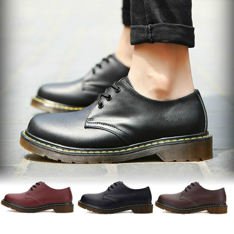 Men Shoes Round Toe Formal Footwear Women Heel Shallow Ankle Boots Dr Classic Martins Boots Casual Fall Boot Zapatos De Hombre