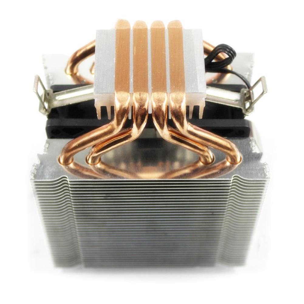 4 Heatpipe CPU Cooler Heatsink Cooling Quiet Fans Radiator For Intel LAG 775 1155 1366 4 Heatpipe Dual Tower 4pin Cooler кулер