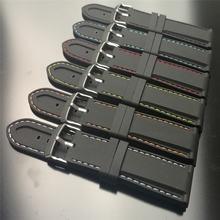 Ремешок силиконовый для наручных часов новый браслет с 2 пружинными