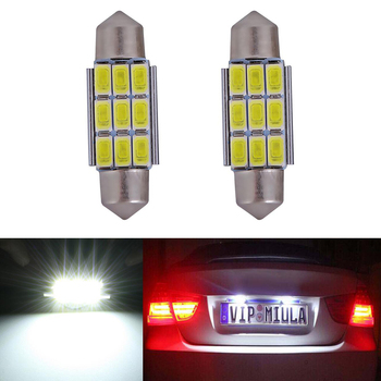 2x CANbus LED 36mm C5W Lamp Bulb Registration Number Plate License Light For BMW E36 E39 E46 E90 E91 E92 E53 E60 E65 E71 image