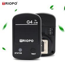 1 pçs triopo g4 built in 2.4 ghz gatilho sistema sem fio TR 950II TR 600RT TR 982III l870ii flash luzes de estúdio para canon nikon