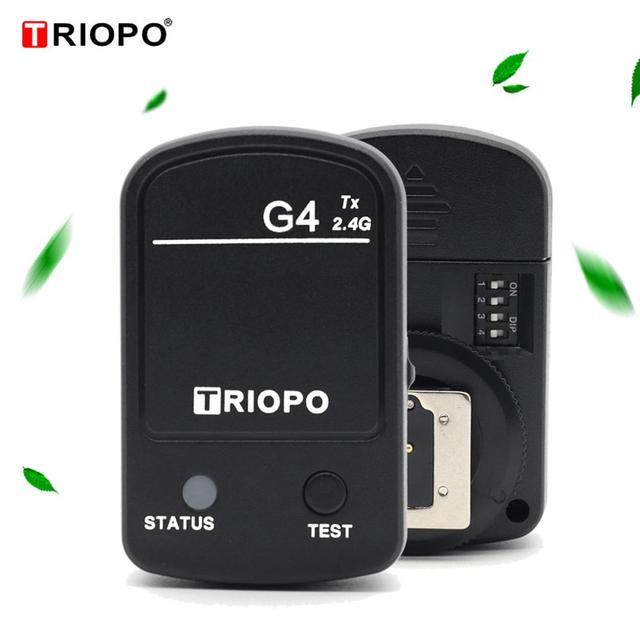 1pcs Triopo G4 Built in 2.4GHz Trigger Wireless system TR 950II TR 600RT TR 982III L870II Flash Studio Lights For Canon Nikon