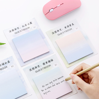 цена на 30sheets Gradient Notepad N Times Sticker Tour Can Tear Up Sticky Notes Memo Pad Fresh Students School Stationery Supply