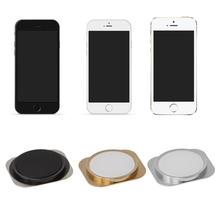 Przycisk Home powrót klucz z metalowym pierścieniem dla iphone 5 taki sam wygląd jak 5S stylu tanie tanio NONE CN (pochodzenie) U50D4N80118-W Plastic + Metal