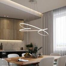 Современные светодиодные подвесные светильники для столовой, кухни, бара, магазина черного или белого цвета, светодиодные подвесные лампы
