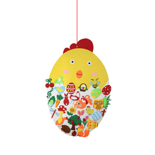 Ornaments Decor Hanging-Games Easter-Felt-Toy Party-Decoration Kids DIY for Adult Wall