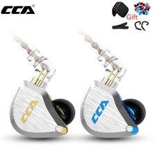 CCA C12 Metall Headset 5BA + 1DD Hybrid 12 Einheiten HIFI Bass Ohrhörer Noise Cancelling Kopfhörer In Ohr Monitor Kopfhörer KZ ZSX ZAX