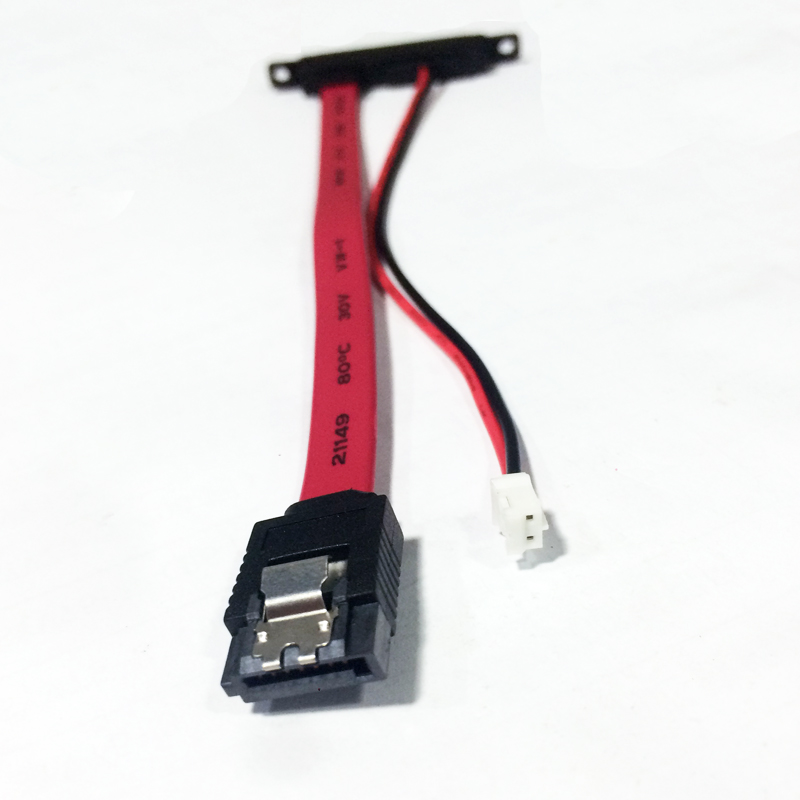 2-in-1 7Pin SATA DATA + 2Pin FDD Floppy Power Combo 7+15 Pin  22P SATA Conjoint CD/DVD HD Cable