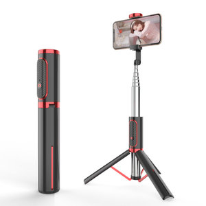 Image 3 - Bonola Bluetooth טלפון Selfie מקל חסון נסתרת חצובה כף יד Selfie מקל קל משקל נייד שידור חי סוגר מרחוק