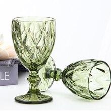 Цветной бокал, винный бокал для воды, прессованный синий розовый бокал, винтажный бокал, бокал для вина