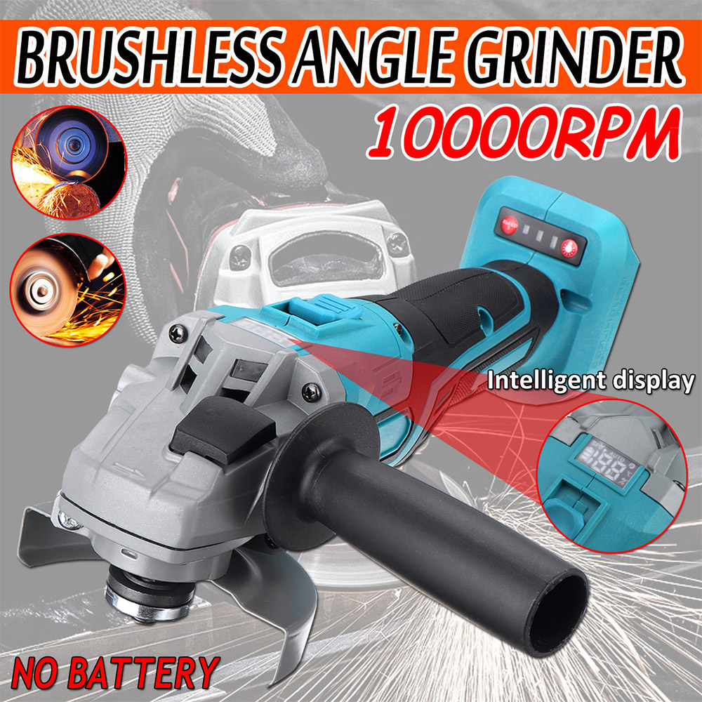 10000rpm 125mm Cordless Angle Grinder Host Polishing Cutting Machine With Digital Display Grinding Machine